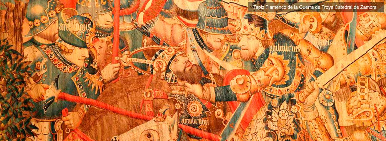 Tapiz flamenco de la Guerra de Troya Catedral de Zamora - Visitas Guiadas Zamora